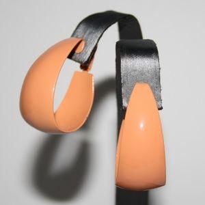 Vintage peach hoop earrings